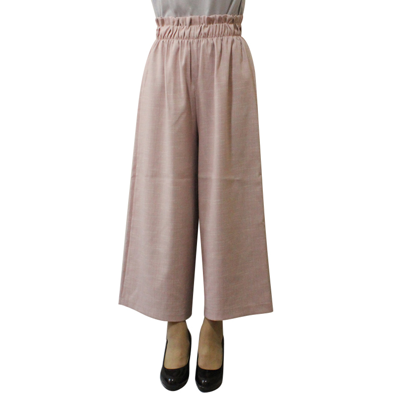 beeea4dd9d9 Spring Fall Loose Wide Leg Pants Capris Pants Casual Cropped Trousers Calf  Length Ankle Length Plus Size Female -in Pants   Capris from Women s  Clothing on ...