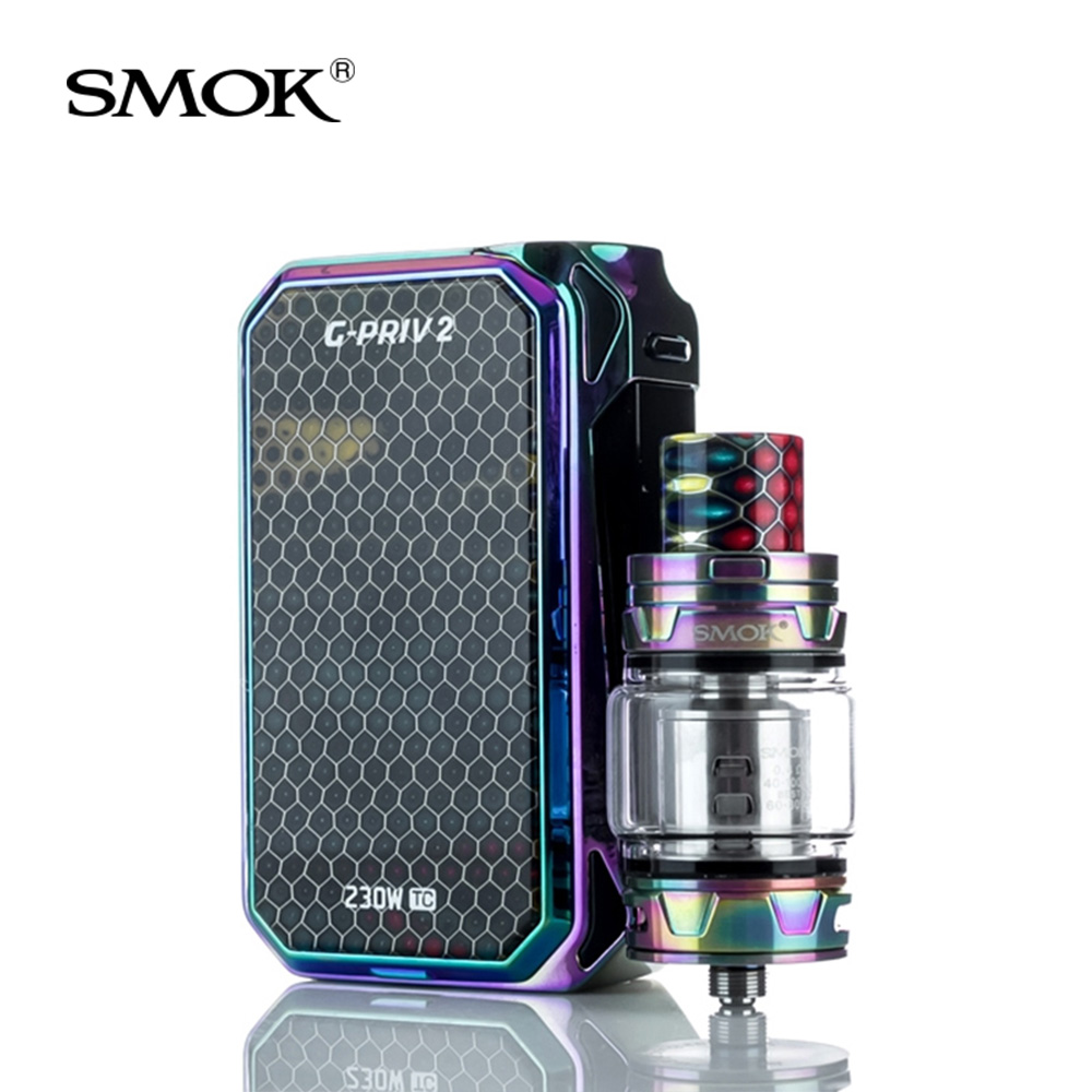 Original SMOK G-Priv 2 Kit Luxe Edition 230W with V12 Prince Tank 8ml+Coils Electronic Cigarette VS X PRIV/Stick Prince vape kit