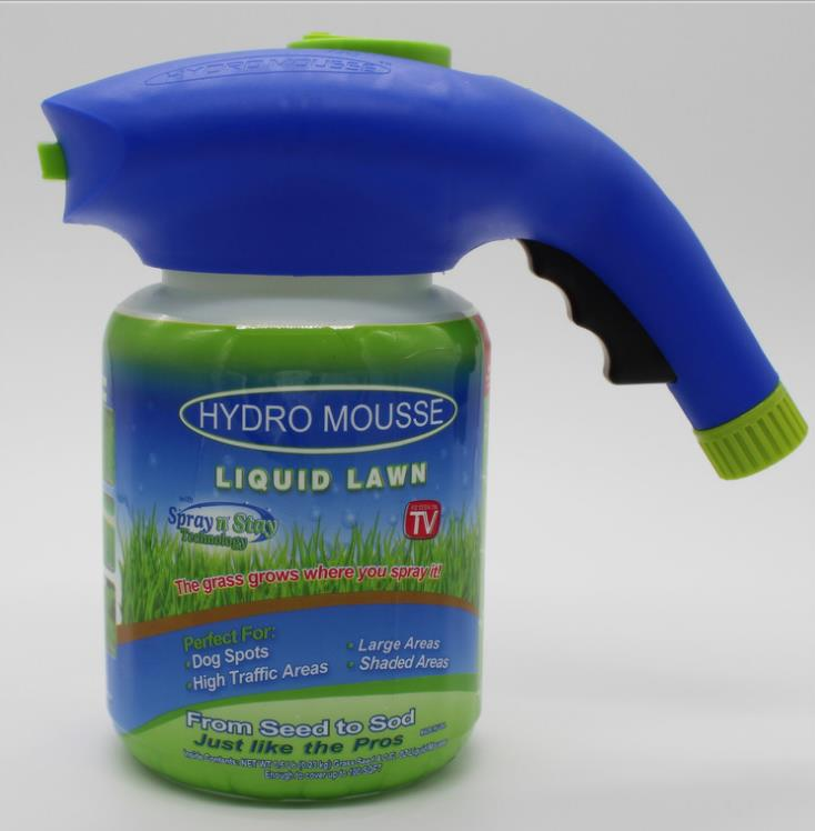 Hydro Mousse Liquid Lawn Grass Growth Garden Sprayer Bottle Grow Grass Anywhere!Droping Shipping