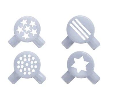 Kitchen Appliance Parts Home Appliances White Color Hexagram Star Modelling Caps Of Ice Cream Machine Spare Part Accessories Wide Varieties