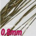 200 meter 0.8mm Tono de Bronce Antiguo del Metal de La Serpiente Jewelry Chain Link Connector resultados de BRICOLAJE joyas accessoreis
