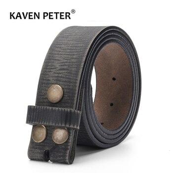 خمر حزام دون مشبك للرجال 100% حقيقية حزام جلد لالجينز 3.8 سنتيمتر عرض Cowskin حزام مع واحد طبقة جلدية