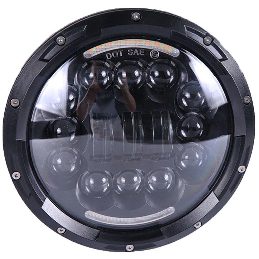 DOT SAE E9 7 zoll Runde LED 90 Watt Scheinwerfer Led-scheinwerfer mit TAGFAHRLICHT für Harley Davidson Yamaha Road Star