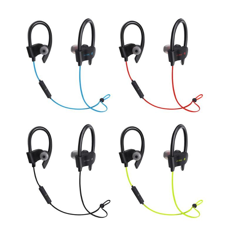 Sports Earphones 56S Wireless Bluetooth Earphones Waterproof Headphone Sport Running Headset Stereo Bass Earbuds with Mic magnetic switch earphones sports running wireless earbuds bass bluetooth headsets in ear with mic for running fitness exercise