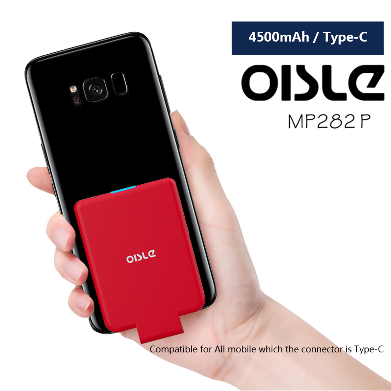OISLE Type C Fast Charging Portable Power Bank 4500mAh Phone USB-C External Battery Charger Case For Xiaomi 5s/ LG G5/Samsung S8