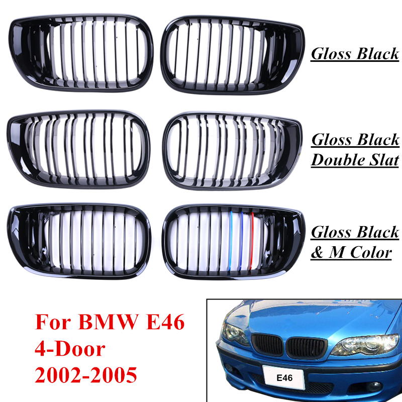 Car Exterior Parts Front Grille Racing Grill For BMW E46 3