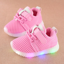 KEYITODO Fashion Children Shoes With Luminous Sneakers Shoes New Glowing Sneakers Baby Toddler Boys Girls Shoes LED Soft C434