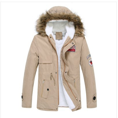 Real Napapijri New Winter Coat Boys Long Bi-fold Men's Cotton-padded Clothes Overcoat In Korean Youth Padded Quilted Jacket