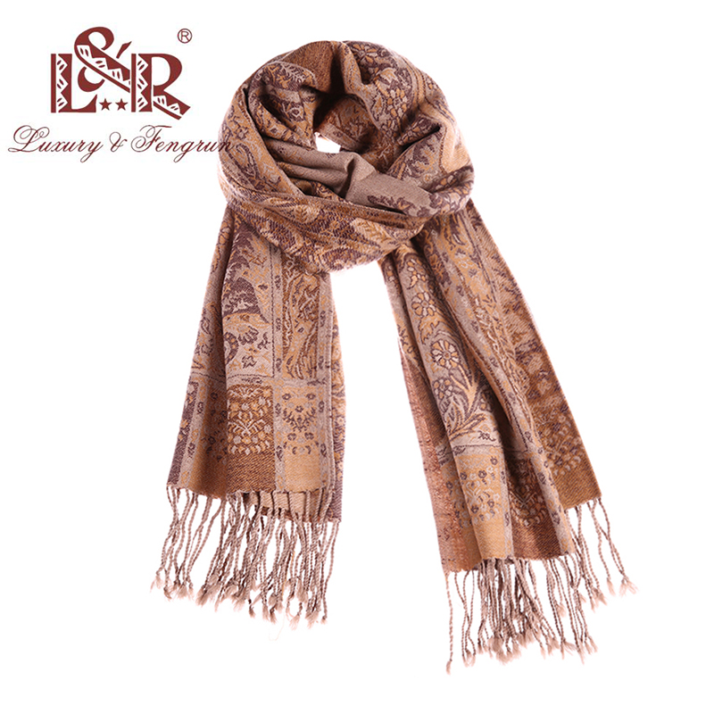 Fashion Design 100% Wool Scarf Women Autumn Winter Printing Head Scarves Foulard Paisley Female Shawl Bufands Mujer Pashmina