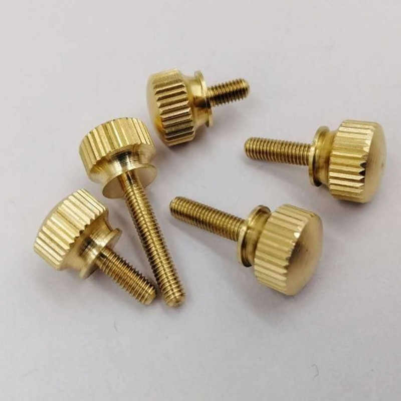 10 PCS M3 M4 M5 M6 มือกระชับทองเหลือง Knurled สกรูทองแดง Twist Knurled สกรูคอมพิวเตอร์ Chass Bolt สกรู Thumb