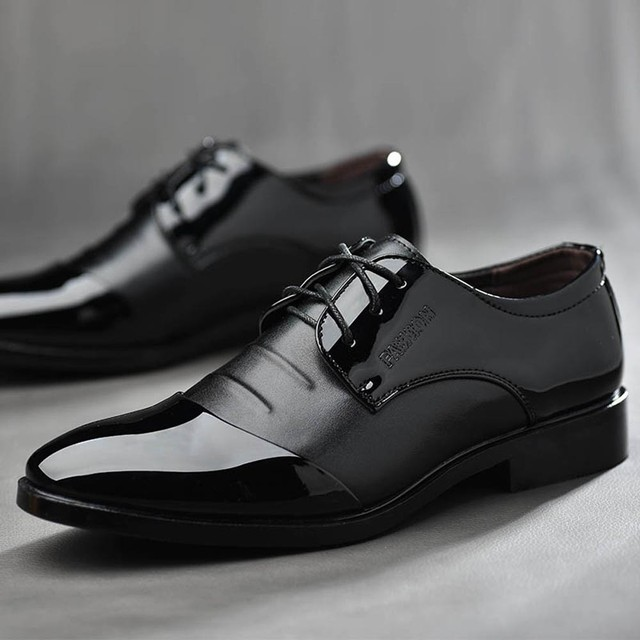 Pointed Toe Men Dress Shoes - Leather Oxford Formal Shoes For Men 1
