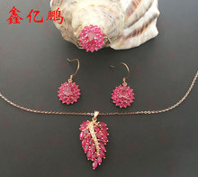 18 k gold inlaid natural ruby suits