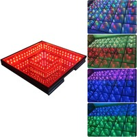 Timmer tunnel 3d magic led music dance floor for wedding disco nightclub Stage Lighting Effect     -