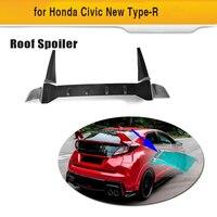 Carbon Fiber Car Racing Rear Trunk Roof Spoiler Wing Case for Honda Civic Type R Hatchback 4 Door 2015 2016 Car Styling 3PCS/Set