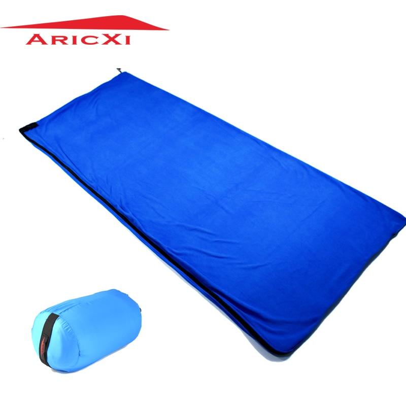 2017 Envelope Style Ultralight Portable fleece Spring Autumn Summer Sleeping Bag Liner Outdoor Camping Travel Splicing Sleep Bag