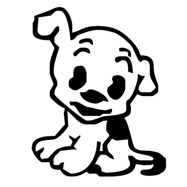 Funny Cute Puppy Dog JDM Car Stickers Windshield Decorative Die - Cool vinyl decals