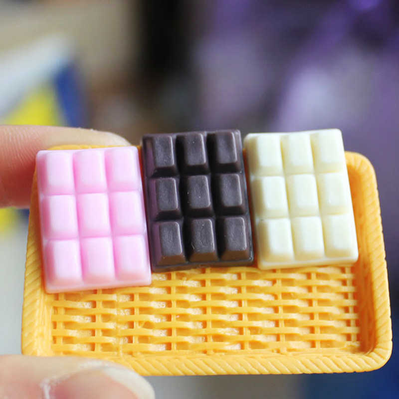 5pc שרף מזויף שוקולד רפש קישוט אספקת מילוי Lizun DIY 3D סימולציה ביסקוויט עוגת מזון דגם רפש אבזרים