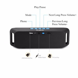 Image 2 - portable speaker with fm radio soundbox music player subwoofer phone bluetooth speaker wireless system with microphone
