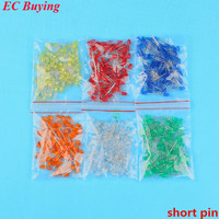 600pcs 5mm LED Diode Light Assorted Kit DIY LEDs Set Mixed Color Red Green Yellow Blue