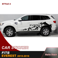 car decal 2 PC off road side adventure mountain stripe graphic vinyl car wrap for ford everest 2015 2016 SUV accessories