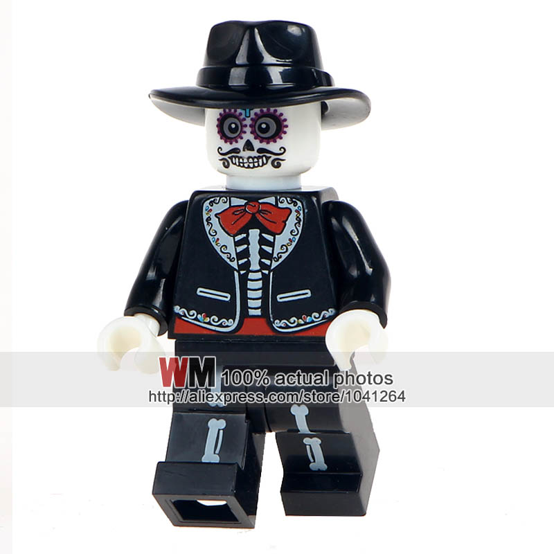 Model Building Blocks Honest Building Blocks 20pcs/lot Wm8002 Man Skeleton Movie Coco Day Of The Dead Holiday Education Learning Toys For Children Gift Harmonious Colors