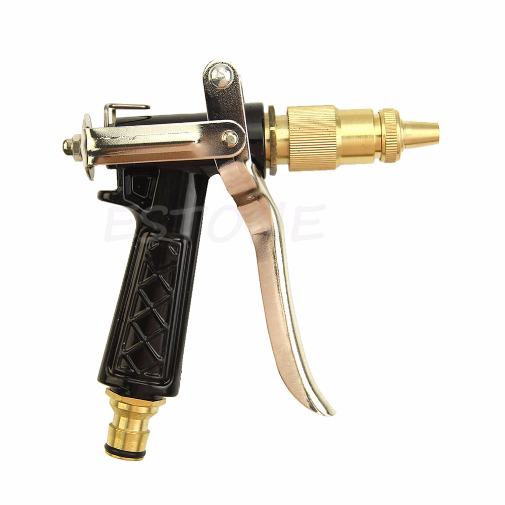 1Pc Brass Metal Hose Nozzle Water Gun Sprayer High Pressure Garden Auto Car Washing
