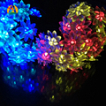 Solar Lotus LED Garlands String Light Outdoor Waterproof IP65 Party Holidays Wedding Decoration Mariage Solaire LED Lumiere