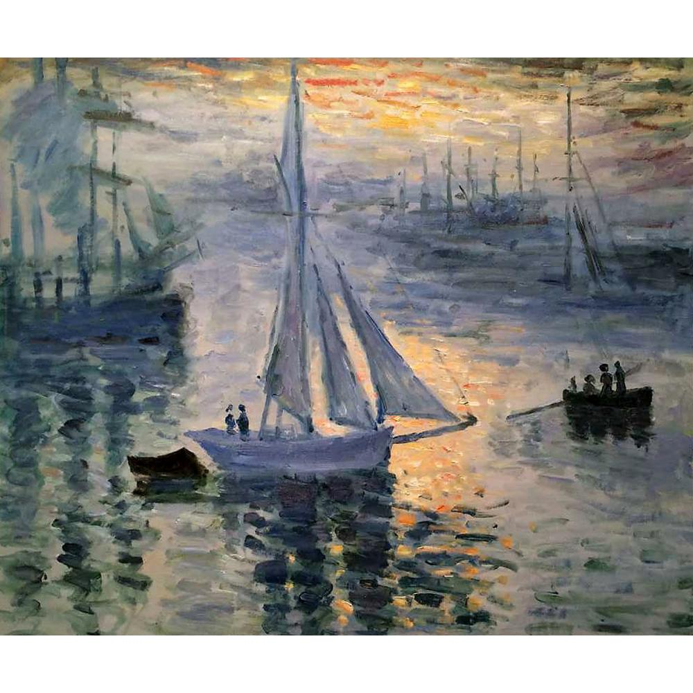 High quality Claude Monet paintings for sale Sunrise, The Sea Canvas art hand-paintedHigh quality Claude Monet paintings for sale Sunrise, The Sea Canvas art hand-painted
