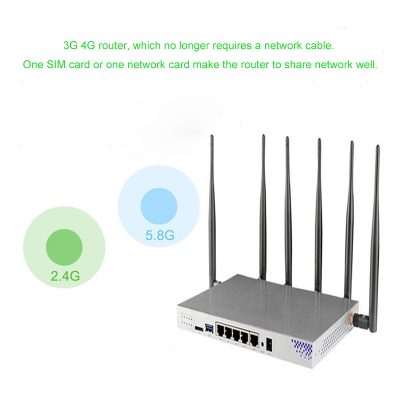 High Quality 3G 4G Wireless Router Wifi with Sim Card Slot Dual Band Wireless Router 4G Modem Mobile Router PPTP L2TP 2,4/5 GHz image