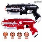 2pcs Toy Laser Guns Weapon Outdoor Black Light Electric Battle Toy Gun Infrared Sensor CS Game Toy Electric Laser Tag Pistola