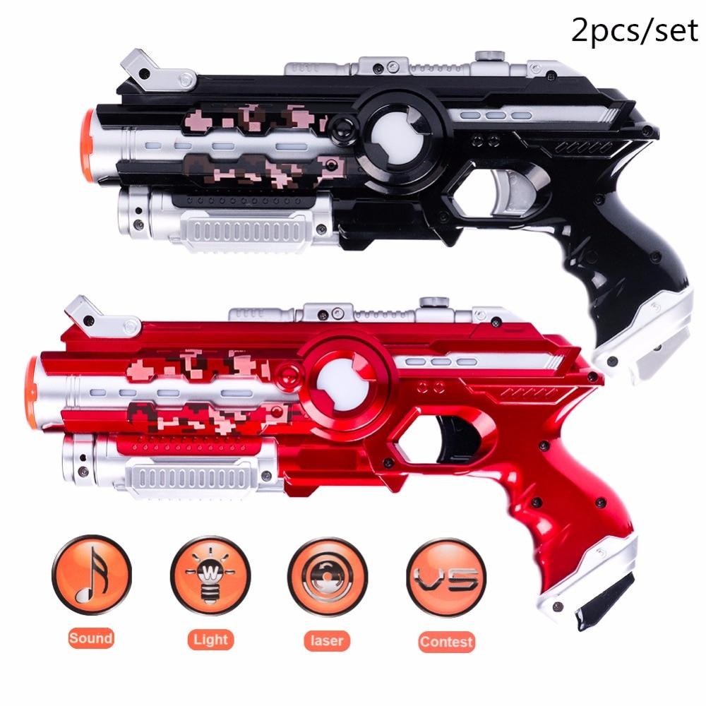 Armas de brinquedo arma tag sensor Infravermelho Interativo Elétrica do laser ao ar livre atlético 2 pcs Mais Novo CS jogo brinquedo Brinquedo Elétrico Do Laser arma arma de brinquedo ao ar livre pistola cs