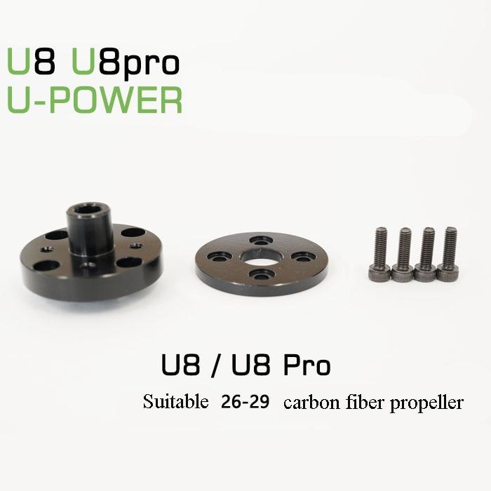 1pc U-power Series Propeller Adapter 20-32 Inches Carbon Fiber Props Clip Tmotor Motor Props Fixed Seat U8 U10 For Rc Uav Drone