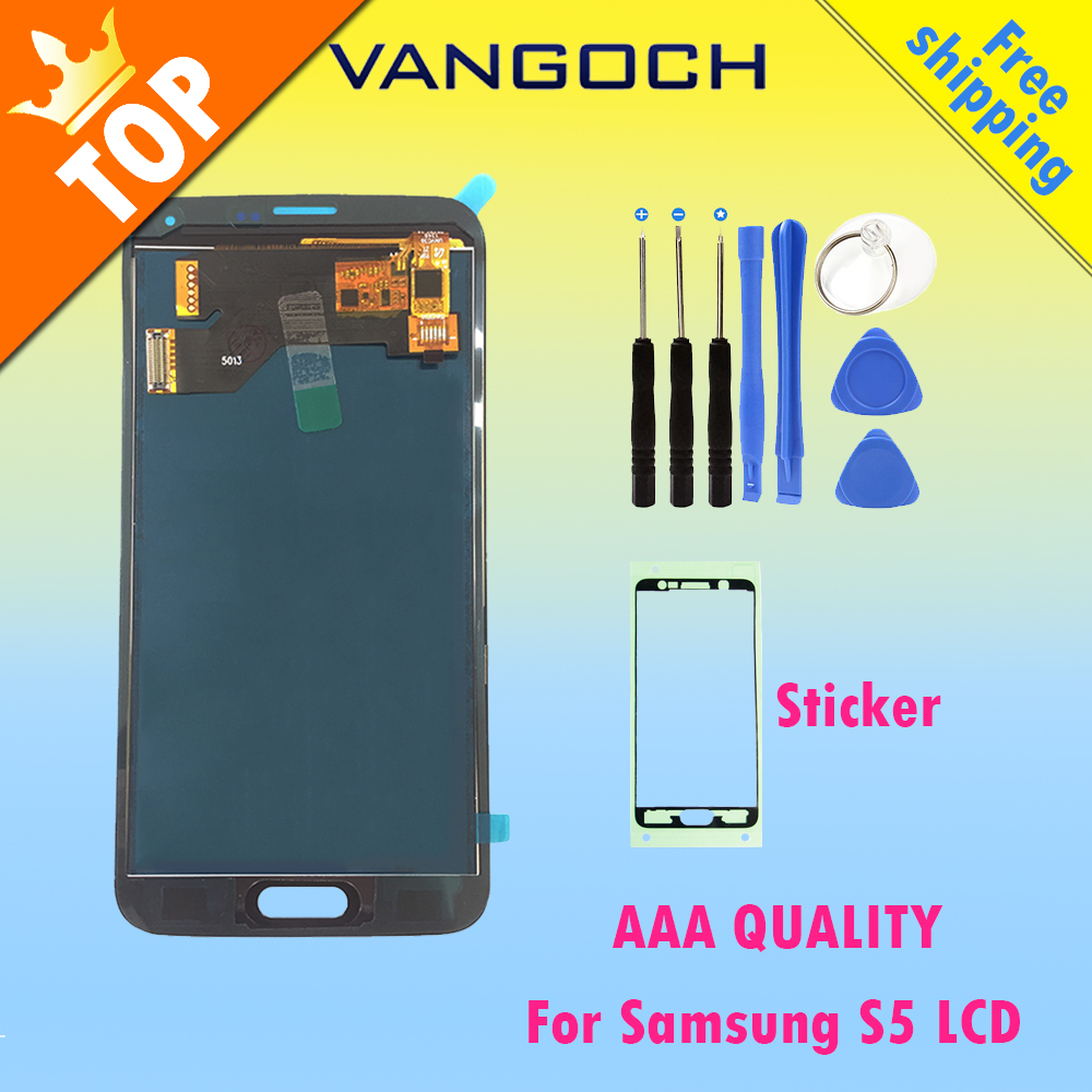 Best Quality For Samsung S5 i9600 G900A G900F G900P G900T G900V Display LCD Screen Touch Screen Digitizer Assembly Replacement
