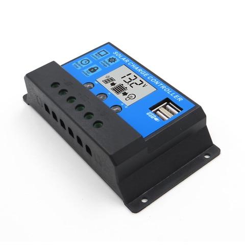 10a 20a 30a 12 v 24 v display lcd pwm controlador de carga solar de