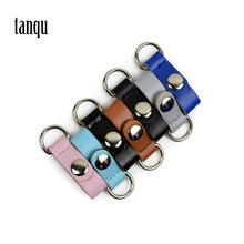 tanqu 1 Pair 2 piece Clip Closure Attachment for Obag Colorful Faux Leather Hook Clip for Opocket O bag promotion multimeter part colorful electrical testing hook clip grabber 8 pair