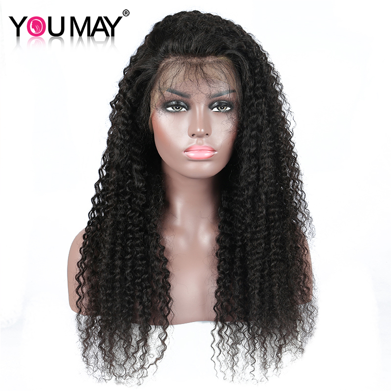 13x6 Deep Part Kinky Curly Wig Brazilian 250 Density Lace Front Human Hair Wigs Pre Plucked For Women Remy Hair You May