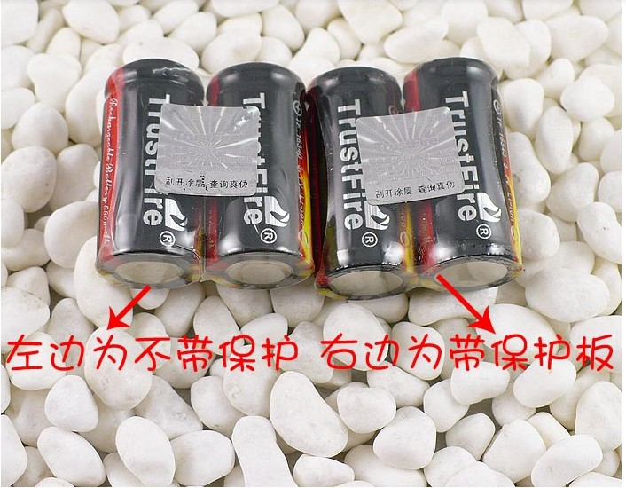 8pcs/lot TrustFire 16340 CR123A Battery 3.7V 880mAh Lithium Rechargeable Nonprotected Batteries for LED Flashlights Headlamps