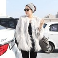 2016 New Winter Coat Fur Fur Fashion Female Korean Imitation Fur Wool Coat Jacket Vest Beach