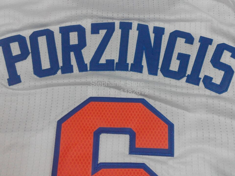 new product 84485 ab406 6 kristaps porzingis jersey jersey