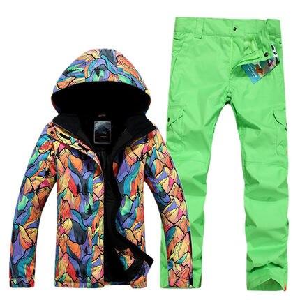 GSOU SNOW combinaison de Ski femme simple Double planche extérieur épais chaud imperméable veste de Ski + pantalon de Ski taille XS-L - 6