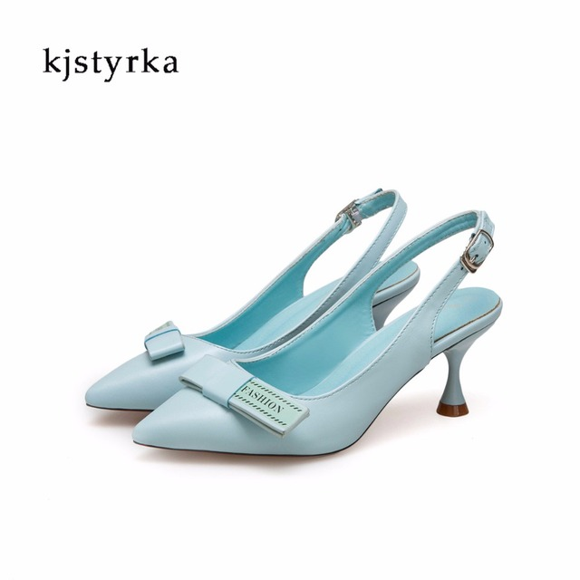 Kjstyrka 2018 New Brand Designer Sandals Women Sexy Red Bottom Shoes Woman  shallow Party Stiletto Pumps zapatos mujer 29298f41b0