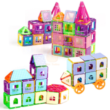 72-240PCS Mini Magnetic Designer Construction Set Model & Building Plastic Magnetic Blocks Educational Toys For Kids Gift