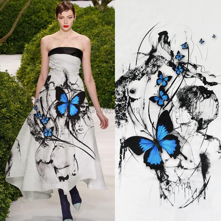 2018 New Fashion Super Fashion Designs Silk Satin Butterfly Printed Fabric Blouse Dresses Silk Fabric By The Meter Wholesale Silk Fabric Meter Designer Silk Fabricsilk Fabric Aliexpress