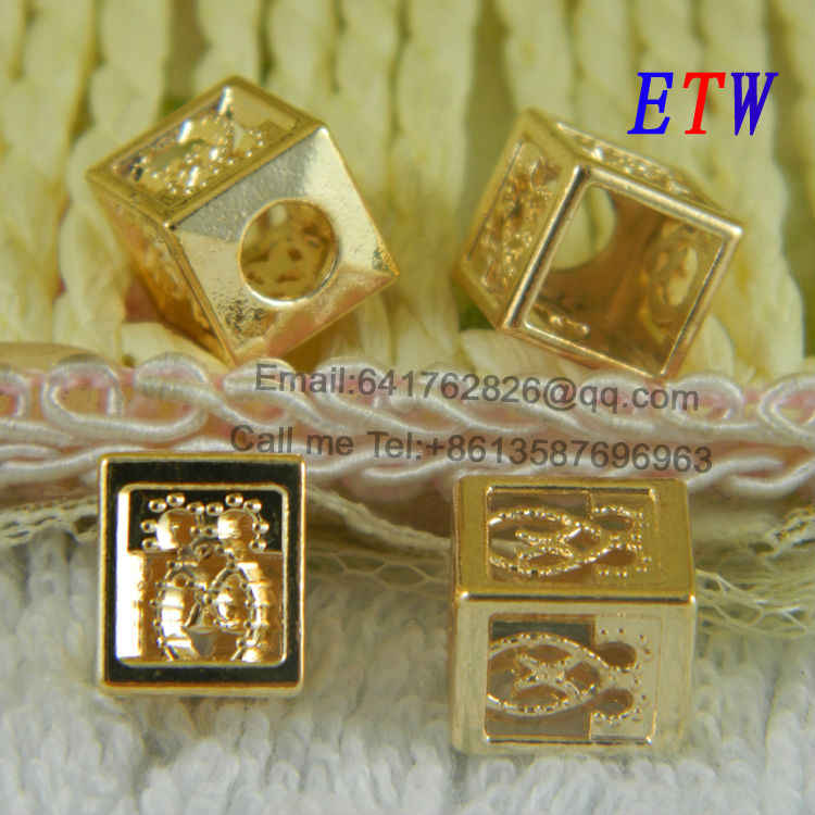 Free shipping Classics Metal Cord End,DIY Plating Gold Stopper 50pcs/lot  Jewelry Finding for wholesale and retail