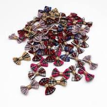 30 шт. смешанный цвет цветок из атласной ленты бант заколки для волос орнамент для рукоделья Свадебный галстук-бабочка скрапбукинг украшения 25 мм-35 мм