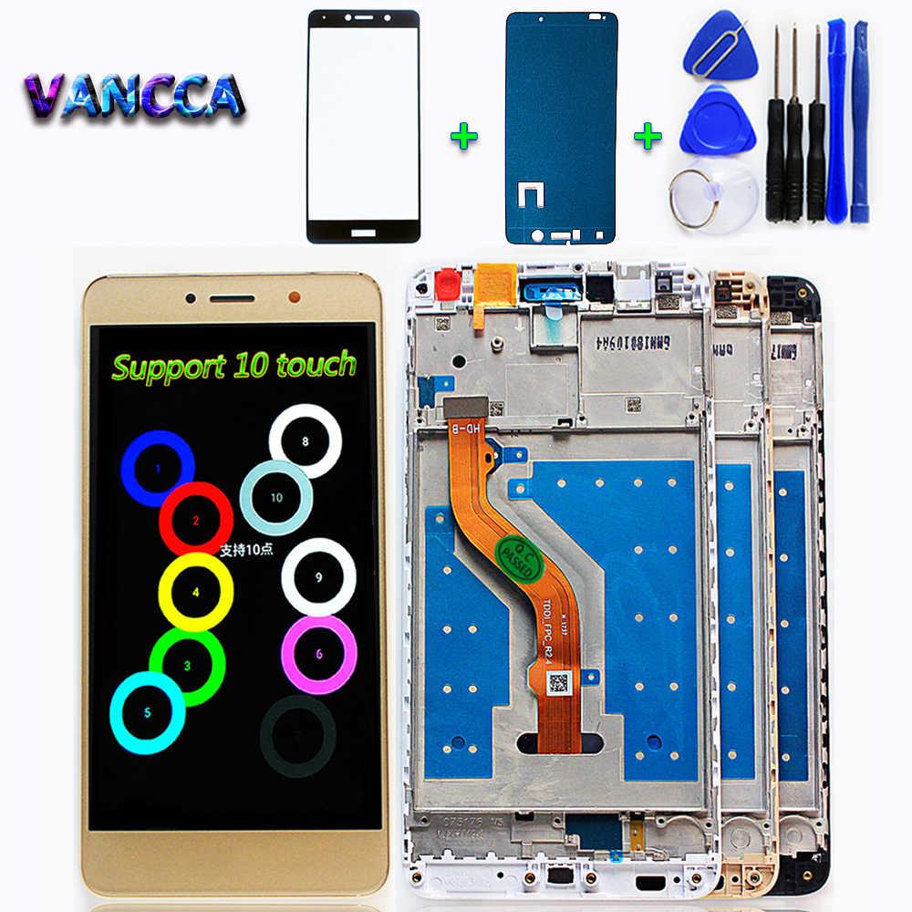 Vancca 5,5 дюймов ЖК-дисплей для Huawei Y7 Prime 2017 ips 1280*720 сенсорный экран дигитайзер в сборе рамка с бесплатным стеклом