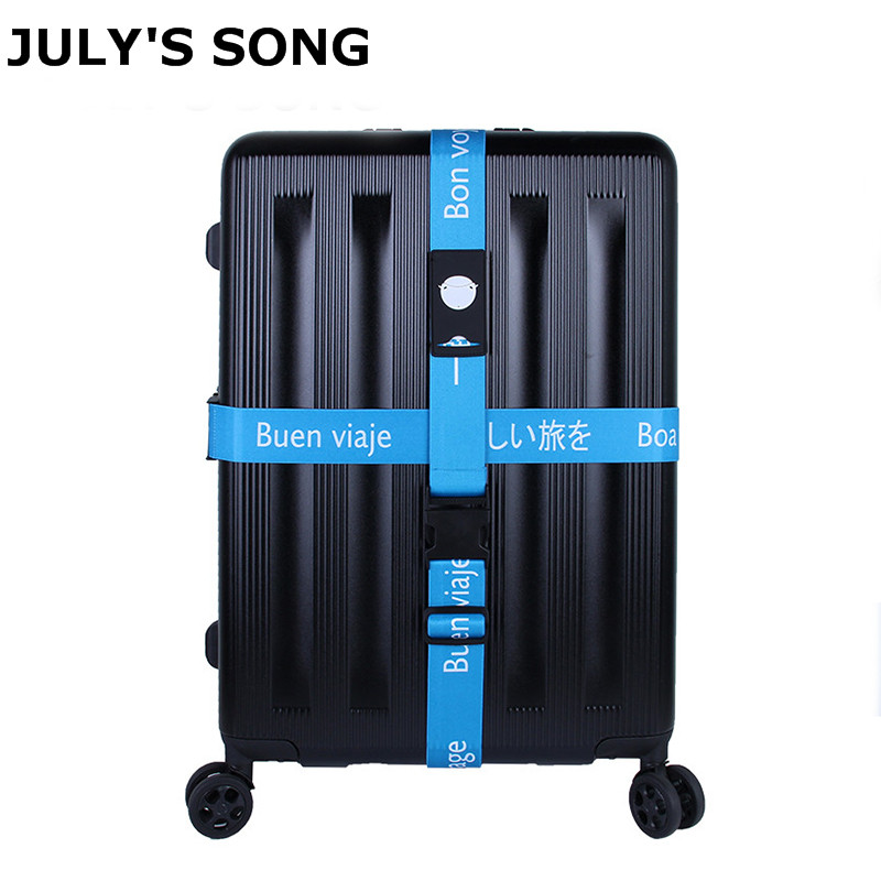 JULY'S SONG Detachable Luggage Strap Polyester Cross Belt Bag Strap For Travel Two Models Useful Travel Accessories