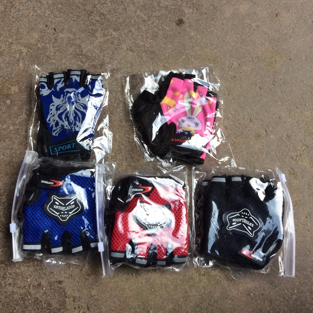 Children Road Bike font b Gloves b font Breathable Riding Half Finger Mountain Bicycle MTB Cycling
