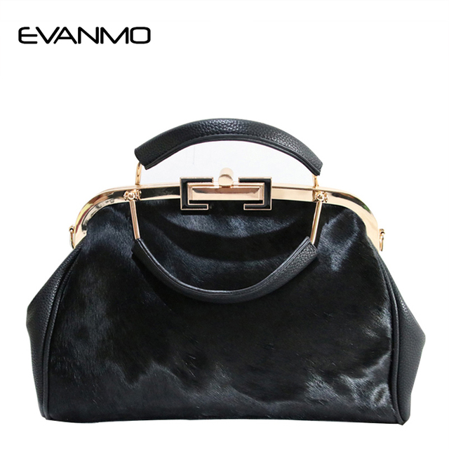 Winter New Arrival Real Fur Bags Made By Whole Pieces Horse Women Luxury Handbags High