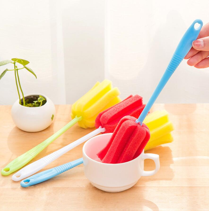 ABS 1pcs random barbecue brush cup Long handle bottle brush kitchen supplies wash water cup brushs cleaning cups